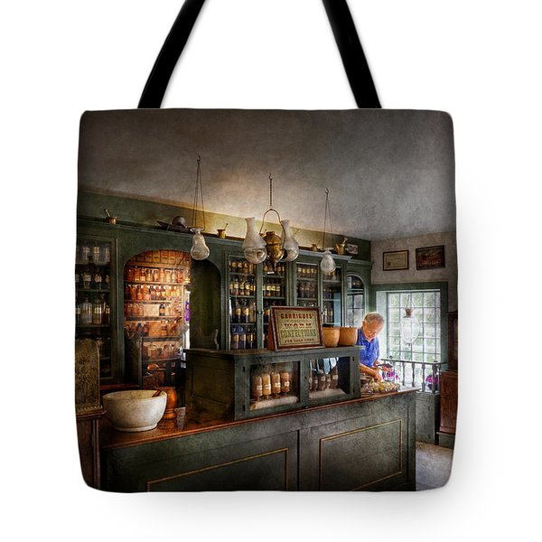 Pharmacy - Morning Preparations Tote Bag by Mike Savad
