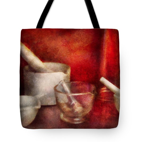 Pharmacy - Pestle - Endless Variety  Tote Bag by Mike Savad