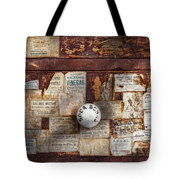 Pharmacy - Signs Of The Time  Tote Bag by Mike Savad