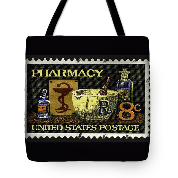 Pharmacy Stamp With Bowl Of Hygeia Tote Bag