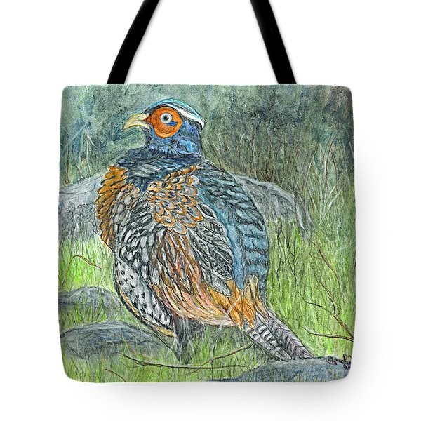 Pheasant Common Male Tote Bag by Carol Wisniewski