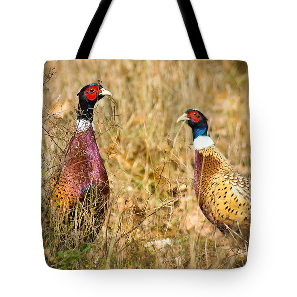 Pheasant Friends Tote Bag