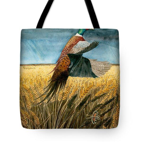 Pheasant Rising Tote Bag