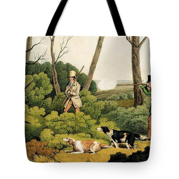 Pheasant Shootin Tote Bag by Henry Thomas Alken
