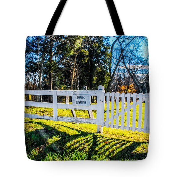 Phelps Cemetery  Tote Bag by Mary Carol Story