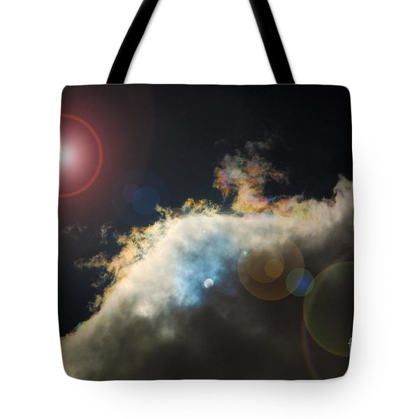 Phenomenon With Lens Flare Tote Bag by Debra Thompson
