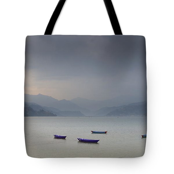 Phewa Lake In Pokhara Tote Bag