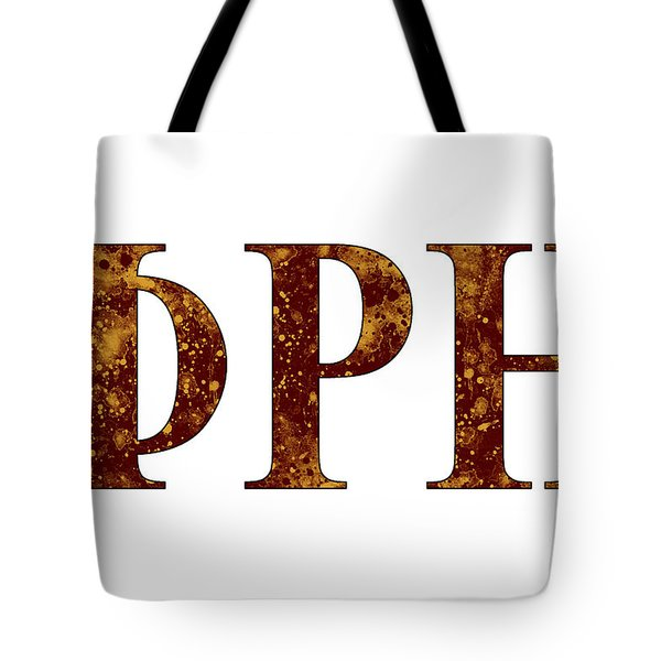 Tote Bag featuring the digital art Phi Rho Eta - White by Stephen Younts