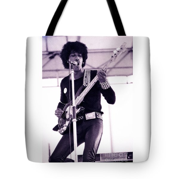 Phil Lynott Of Thin Lizzy Black Rose Star Effect Day On The Green 4th Of July 1979 - Unreleased No 3 Tote Bag