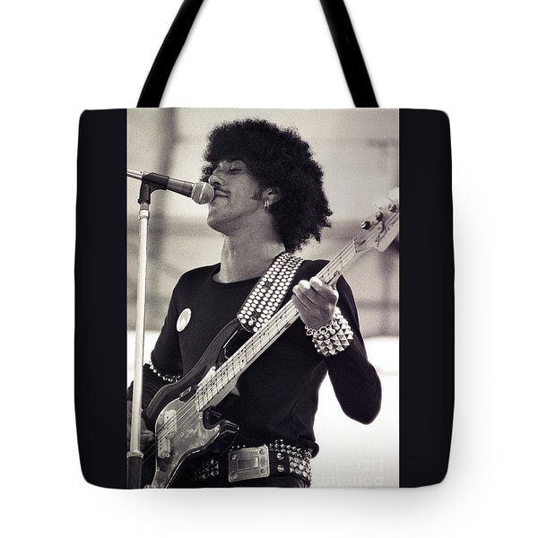 Phil Lynott Of Thin Lizzy Black Rose Tour At Day On The Green 4th Of July 1979 - Unreleased  Tote Bag