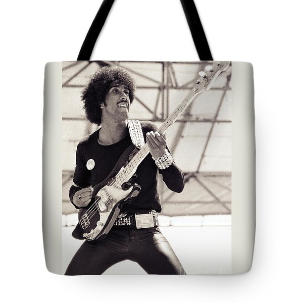 Phil Lynott Of Thin Lizzy Black Rose Tour At Day On The Green 4th Of July 1979 - Unreleased No 2 Tote Bag