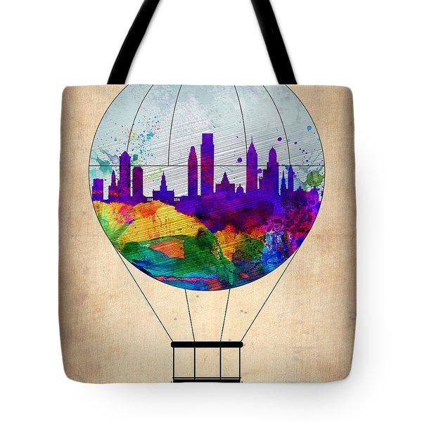 Philadelphia Air Balloon Tote Bag by Naxart Studio