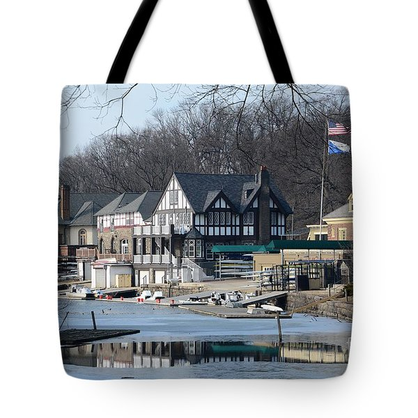 Philadelphia - Boat House Row Tote Bag by Cindy Manero