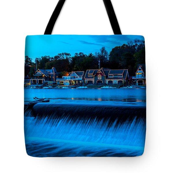 Philadelphia Boathouse Row At Sunset Tote Bag
