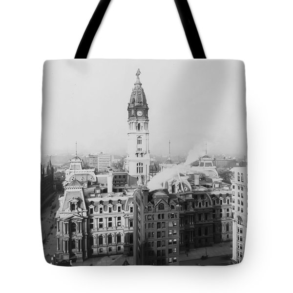 Philadelphia City Hall 1900 Tote Bag by Bill Cannon