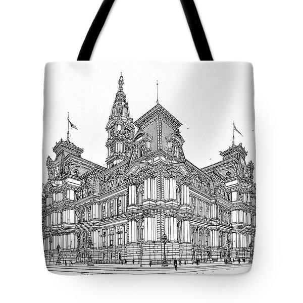 Philadelphia City Hall 1911 Tote Bag by Ira Shander