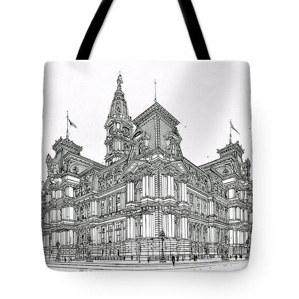 Philadelphia City Hall 1911 Tote Bag