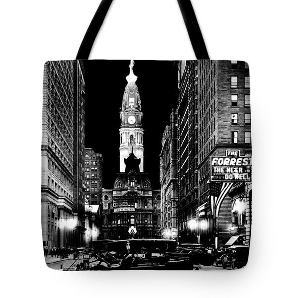 Philadelphia City Hall 1916 Tote Bag by Benjamin Yeager