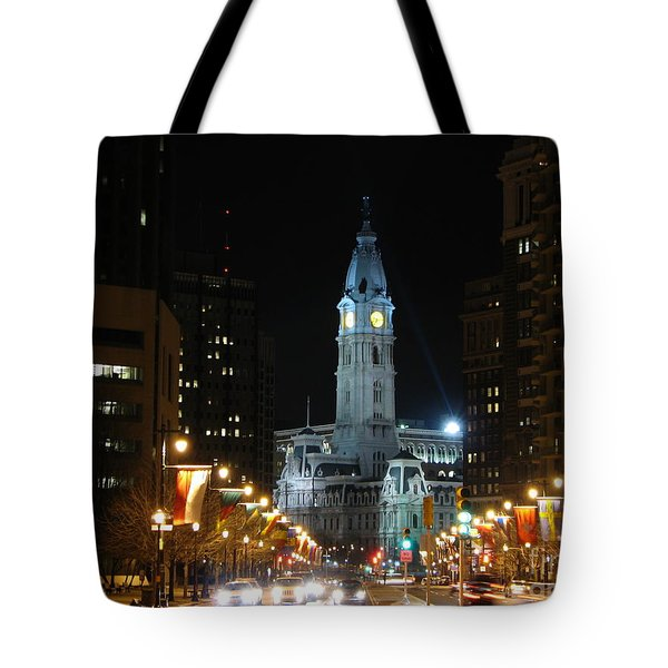 Philadelphia City Hall Tote Bag by Christopher Woods