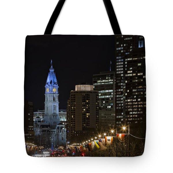 Philadelphia City Hall Tote Bag by Eduard Moldoveanu