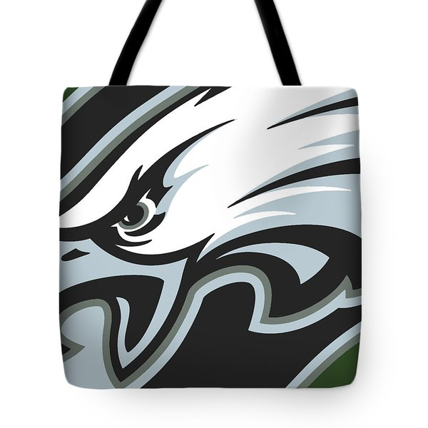 Philadelphia Eagles Football Tote Bag by Tony Rubino