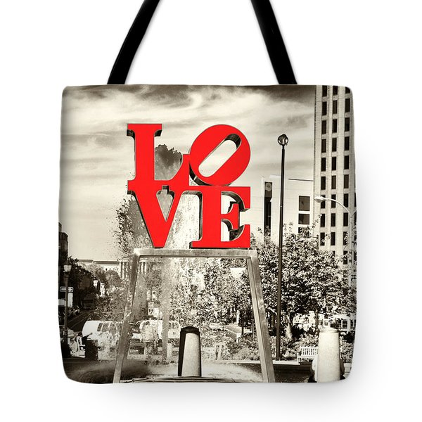 Philadelphia Love Mixed Tote Bag by John Rizzuto