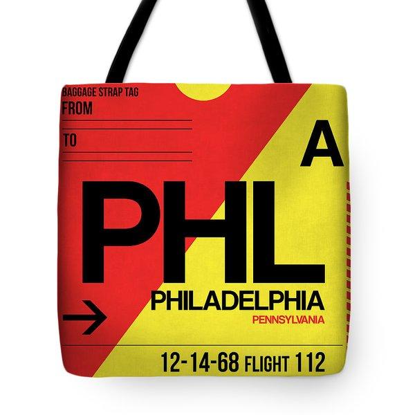 Philadelphia Luggage Poster 2 Tote Bag by Naxart Studio