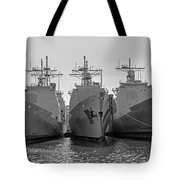 Philadelphia Navy Yard B - W  Tote Bag