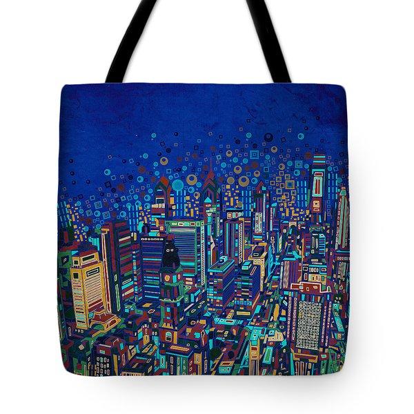 Philadelphia Panorama Pop Art 2 Tote Bag