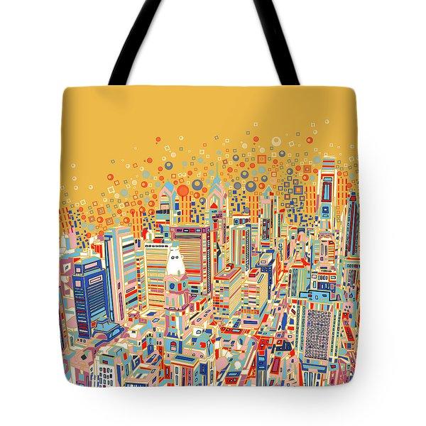 Philadelphia Panorama Pop Art Tote Bag