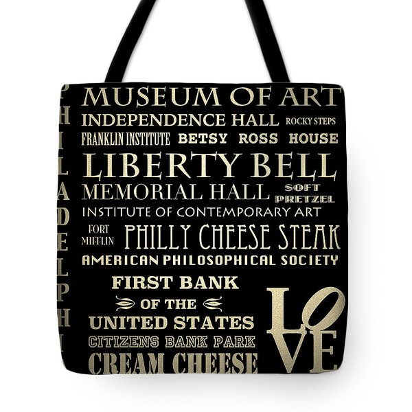Philadelphia Pennsylvania Famous Landmarks Tote Bag