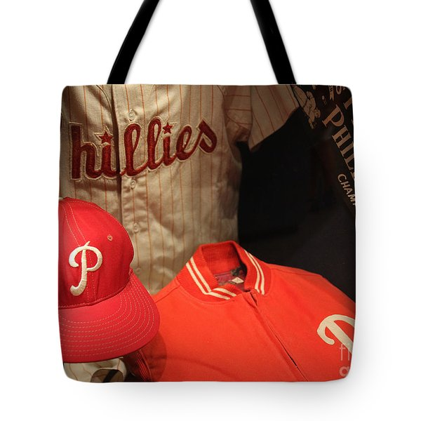 Philadelphia Phillies Tote Bag by David Rucker