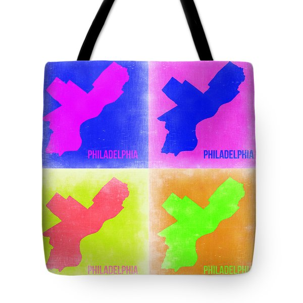 Philadelphia Pop Art Map 2 Tote Bag