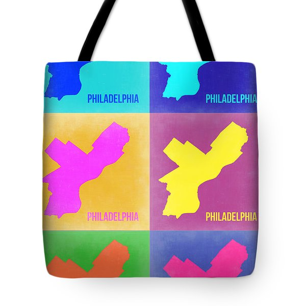 Philadelphia Pop Art Map 3 Tote Bag