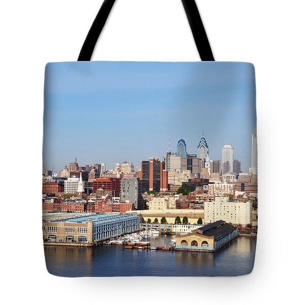 Philadelphia River View Tote Bag by Bill Cannon