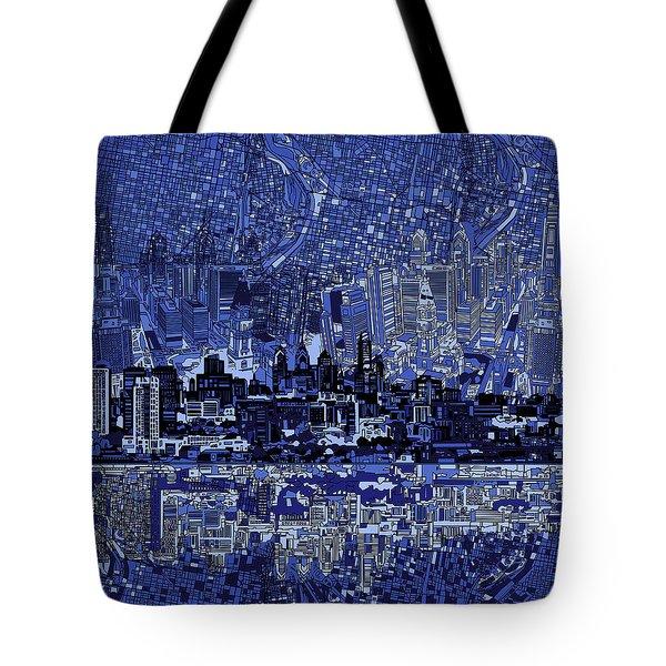 Philadelphia Skyline Abstract 2 Tote Bag