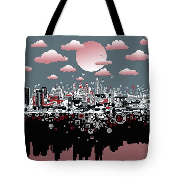 Philadelphia Skyline Abstract 6 Tote Bag
