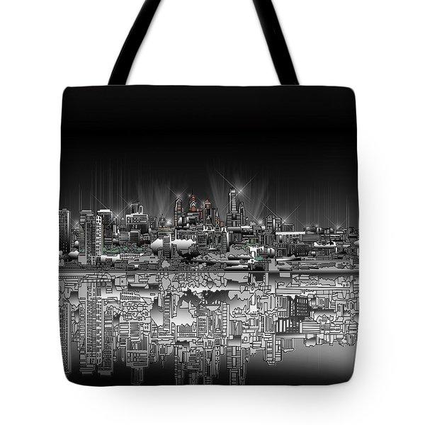 Philadelphia Skyline  Gradient Tote Bag