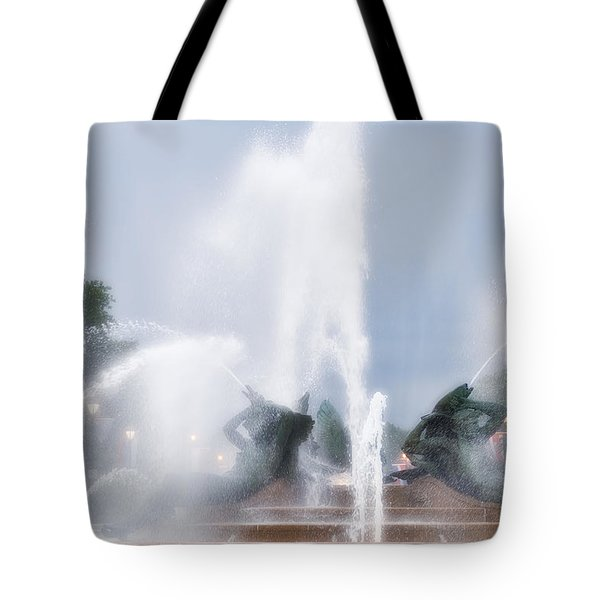 Philadelphia - Swann Memorial Fountain Tote Bag by Bill Cannon