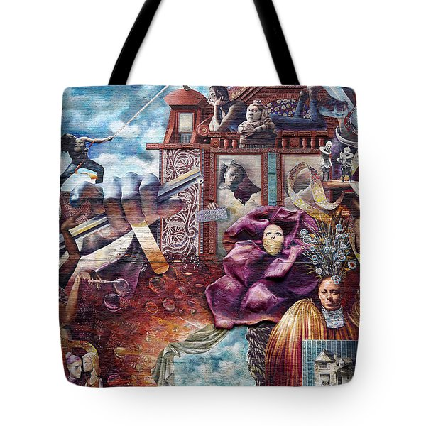 Philadelphia - Theater Of Life Mural Tote Bag by Richard Reeve