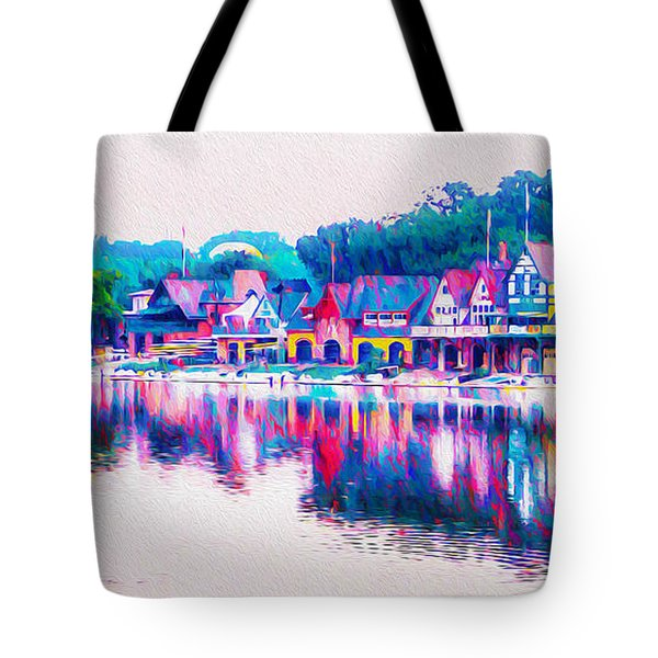 Tote Bag featuring the photograph Philadelphia's Boathouse Row On The Schuylkill River by Bill Cannon