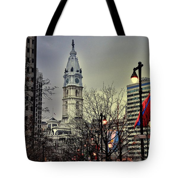 Philadelphia's Iconic City Hall Tote Bag by Bill Cannon