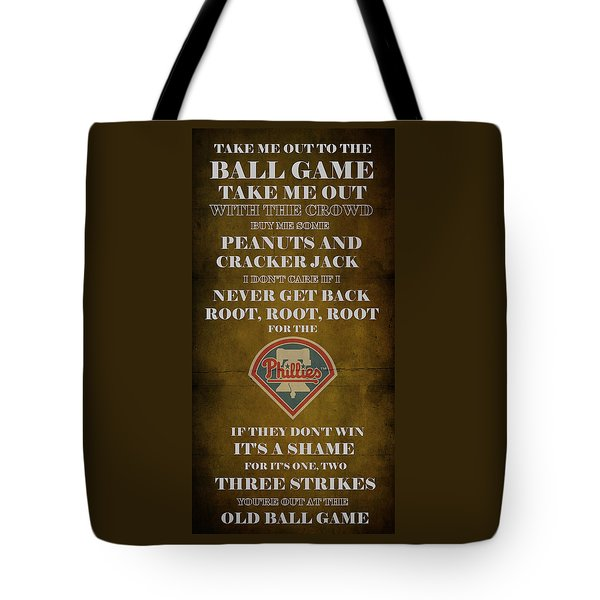 Phillies Peanuts And Cracker Jack  Tote Bag by Movie Poster Prints