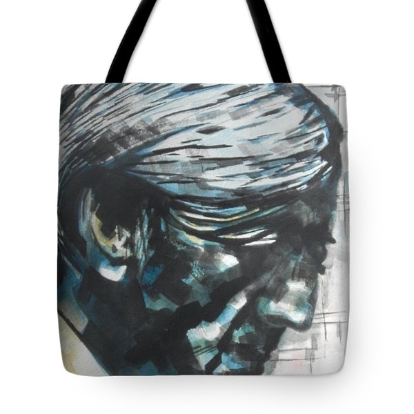 Philospher Jiddu Krishnamurti Tote Bag by Chrisann Ellis
