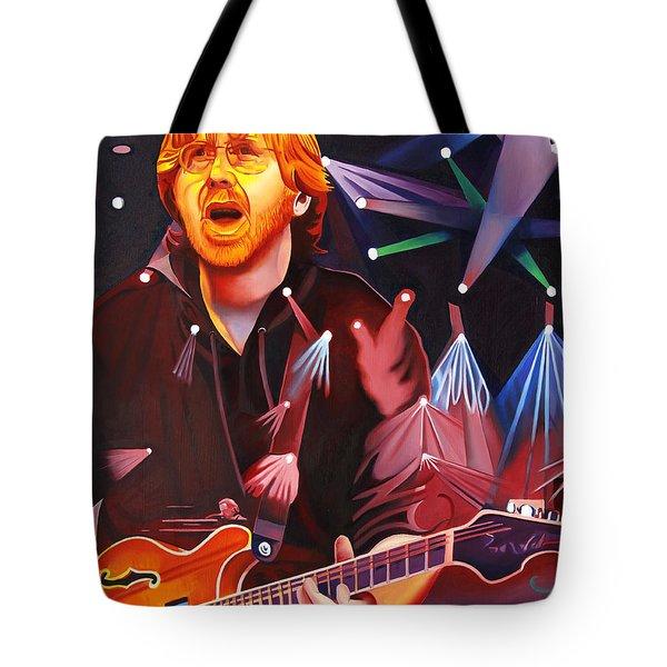 Phish Full Band Anastasio Tote Bag by Joshua Morton