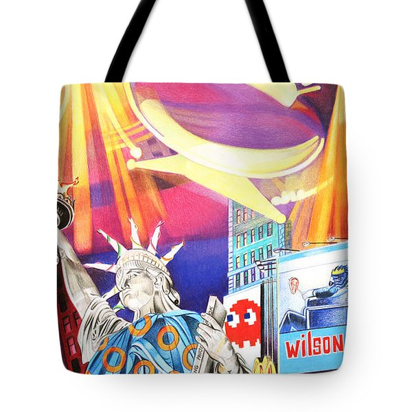 Phish New Years In New York Right Panel Tote Bag by Joshua Morton