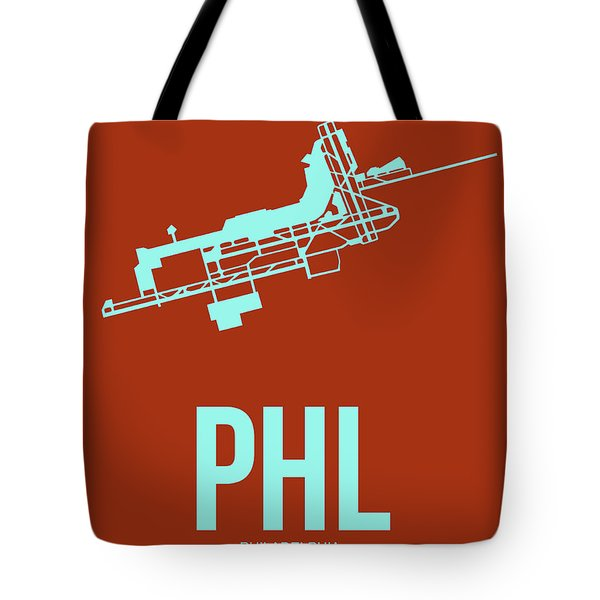 Phl Philadelphia Airport Poster 2 Tote Bag by Naxart Studio