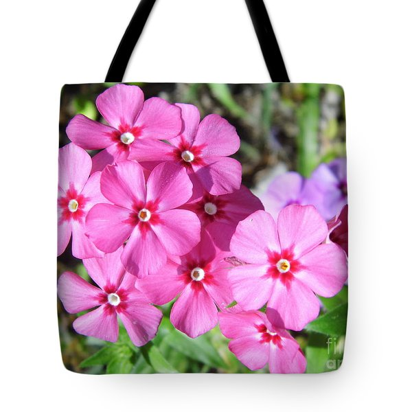 Tote Bag featuring the photograph Phlox Beside The Road by D Hackett
