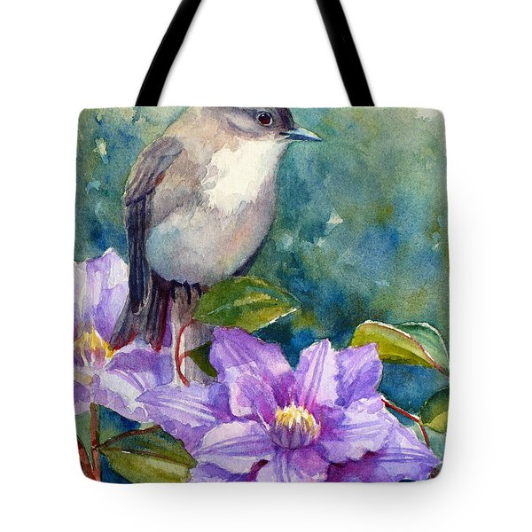 Phoebe And Clematis Tote Bag