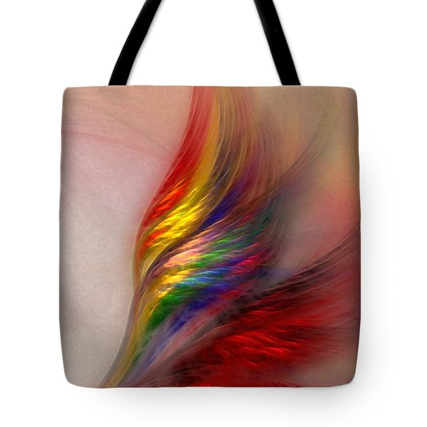Phoenix-abstract Art Tote Bag